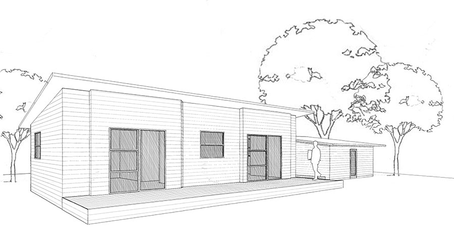 Ezyline homes 93m contemporary series for Mono pitch house plans